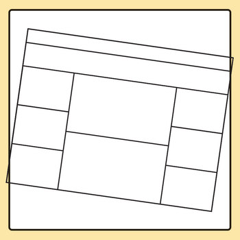 Worksheet Template / Layout - Horizontal Extra Space at Top 03 Clip Art