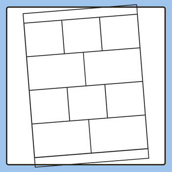 Worksheet Template / Layout - Vertical with Note Space at Bottom 02 Clip Art