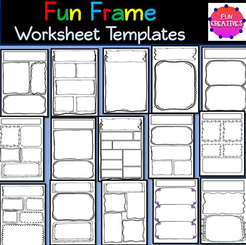 Worksheet Templates Fun Frames