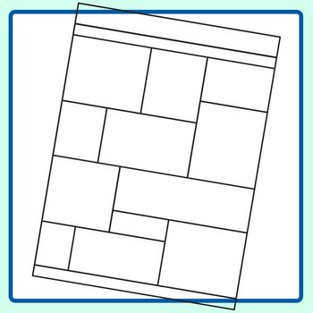 Worksheet Templates / Layouts 8 Clip Art Set for Commercial Use