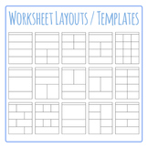 Worksheet Templates / Layouts Clip Art Pack for Commercial Use