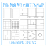 Worksheet Templates / Layouts Clip Art Pack for Commercial Use (3)