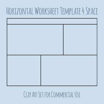 Worksheet Templates / Layouts Horizontal Four Space / 4 Section Clip Art