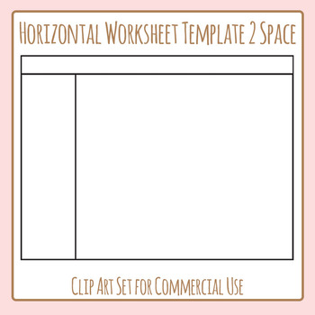 Worksheet Templates / Layouts Horizontal Two Space / 2 Section Clip Art