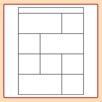 Worksheet Templates / Layouts Nine Space / 9 Section Clip Art Commercial Use