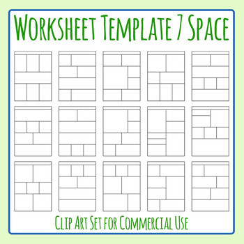 Worksheet Templates / Layouts Seven Space / 7 Section Clip Art Commercial Use