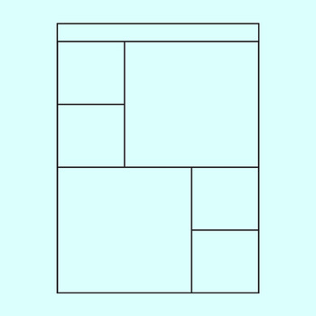 Worksheet Templates / Layouts Six Space / 6 Section Clip Art Commercial Use