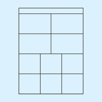 Worksheet Templates / Layouts Ten Space / 10 Section Clip Art Commercial Use