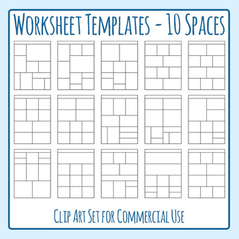 Worksheet Templates / Layouts Ten Space / 10 Section Clip