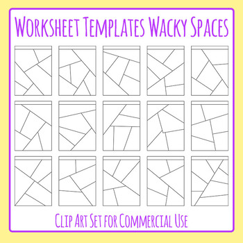 Worksheet Templates / Layouts Wacky Spaces Clip Art Pack for Commercial Use