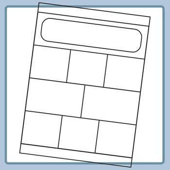 Worksheet Templates / Layouts with Rounded Headers Clip Art for Commercial Use