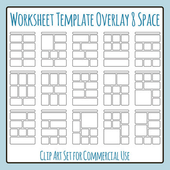 Worksheet Templates Overlays 8 Space Clip Art Pack for Commercial Use