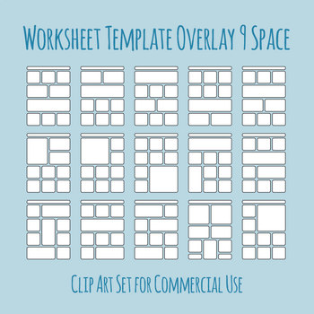 Worksheet Templates Overlays 9 Space Clip Art Pack for Commercial Use