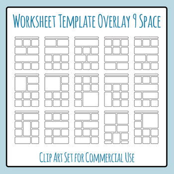 Worksheet Templates Overlays 9 Space Clip Art Pack for Com