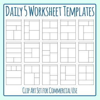 Worksheet Templates Worksheet Templates / Layouts Five Space Daily Five Clip Art