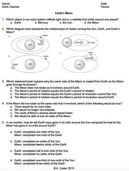 Worksheet - The Moon *Editable*