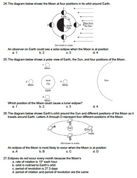 Worksheet - Tides and Eclipses *Editable*