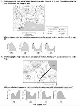 worksheet topographic profiles editable tpt. Black Bedroom Furniture Sets. Home Design Ideas