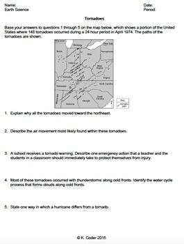 Worksheet - Tornadoes *Editable*