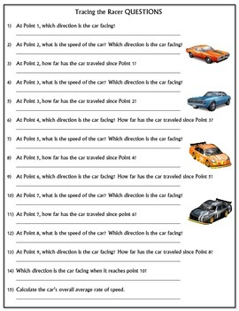 Worksheet: Tracing the Racer Version 3