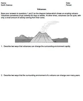 Worksheet - Volcanoes *Editable*