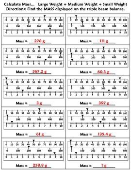 Worksheet: Volume and Mass 1