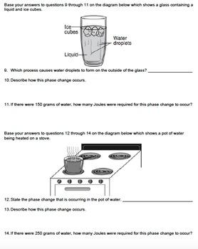 Worksheet - Water & Energy *EDITABLE*