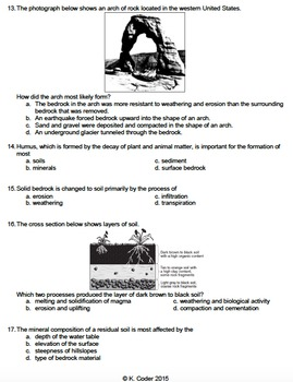 Worksheet - Weathering Rates and Soil *Editable*