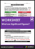 Worksheet - What are Significant Figures or Significant Digits?