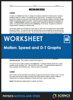 Worksheet - What is Motion and Speed