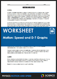 Worksheet - What is Motion and Speed?