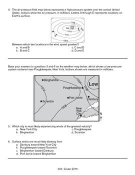 Worksheet - Winds *Editable*