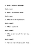Worksheet about computer safety