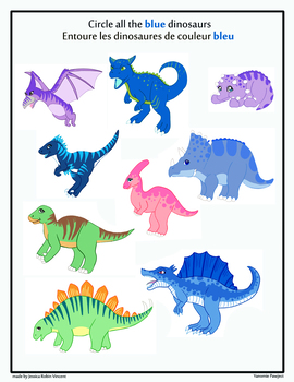 Worksheet about dinosaurs