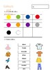Worksheet colours and clothes