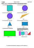 Worksheet for 1.G.1-1.2 - Identify defining attributes of shapes specifically cl