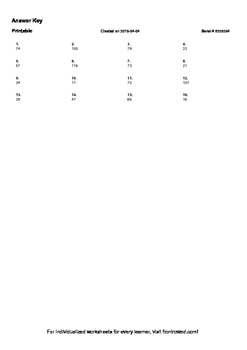 Worksheet for 1.NBT.1-1.0 - Count to 120, starting at any number less than 120