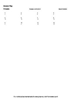 Worksheet for 1.OA.3-1.2 - Associative property of addition