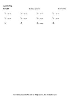 Worksheet for 2.NBT.3-1.3 - Express a number in expanded form
