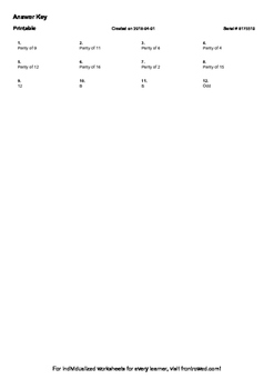 Worksheet for 2.OA.3-1.0 - Determine whether a group of objects (up to 20) has a
