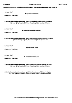 Worksheet for 3.G.1-1.0 - Understand that shapes in different categories may sha