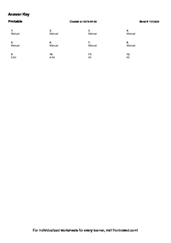 Worksheet for 3.MD.1-4.0 - Solve word problems involving addition and subtractio