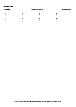 Worksheet for 3.MD.3-1.0 - Draw a scaled picture graph to represent a data set w