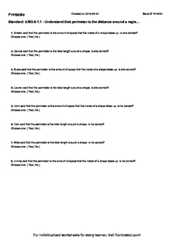 Worksheet for 3.MD.8-1.1 - Understand that perimeter is the distance around a re