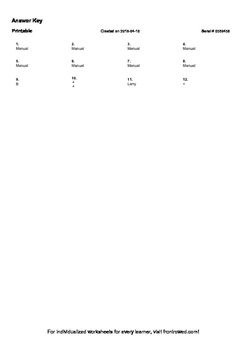 Worksheet for 3.NF.3D-1.0 - Compare two fractions with the same numerator or the