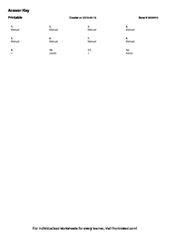 Worksheet for 3.NF.3D-1.2 - Compare two fractions with the same denominator by r