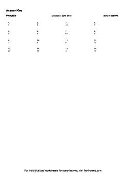 Worksheet for 3.OA.4-2.2 - Use balance modeling or bar models to find the divide