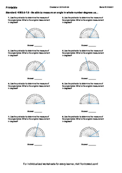 Worksheet for 4.MD.6-1.0 - Be able to measure an angle in whole-number degrees
