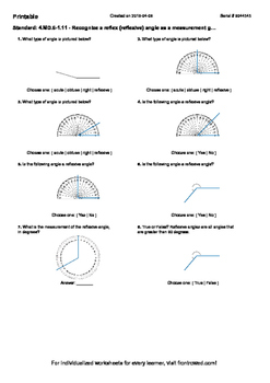 Worksheet for 4.MD.6-1.11 - Recognize a reflex (reflexive)
