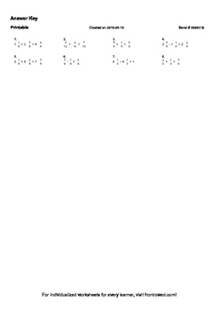 Worksheet for 4.NF.3D-1.2 - Students must create an equation with fractions to r